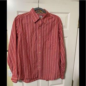 Robert Graham vintage red button shirt L